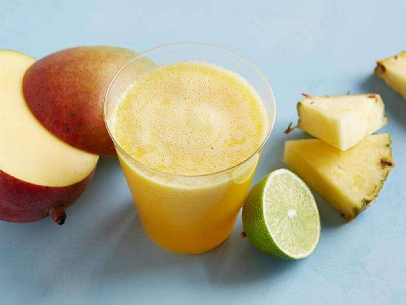 Receita de Suco refrescante de abacaxi e laranja
