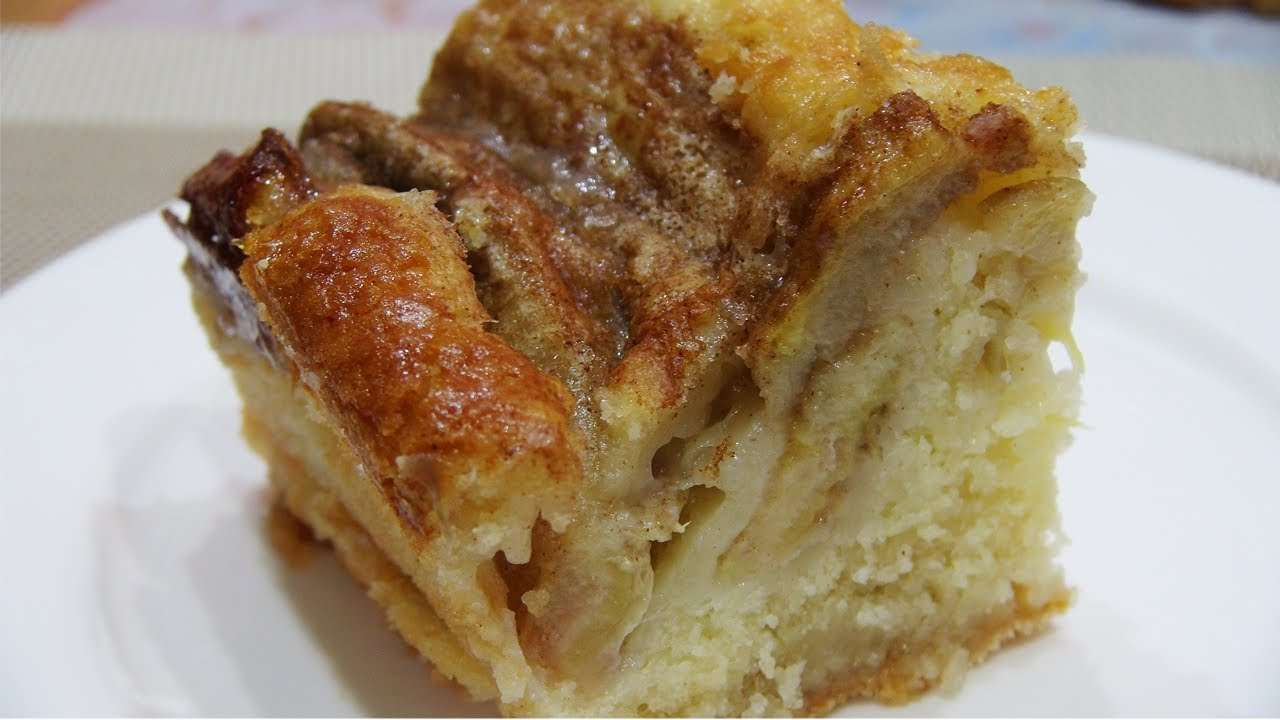 Receita de Torta de banana bem cremosa