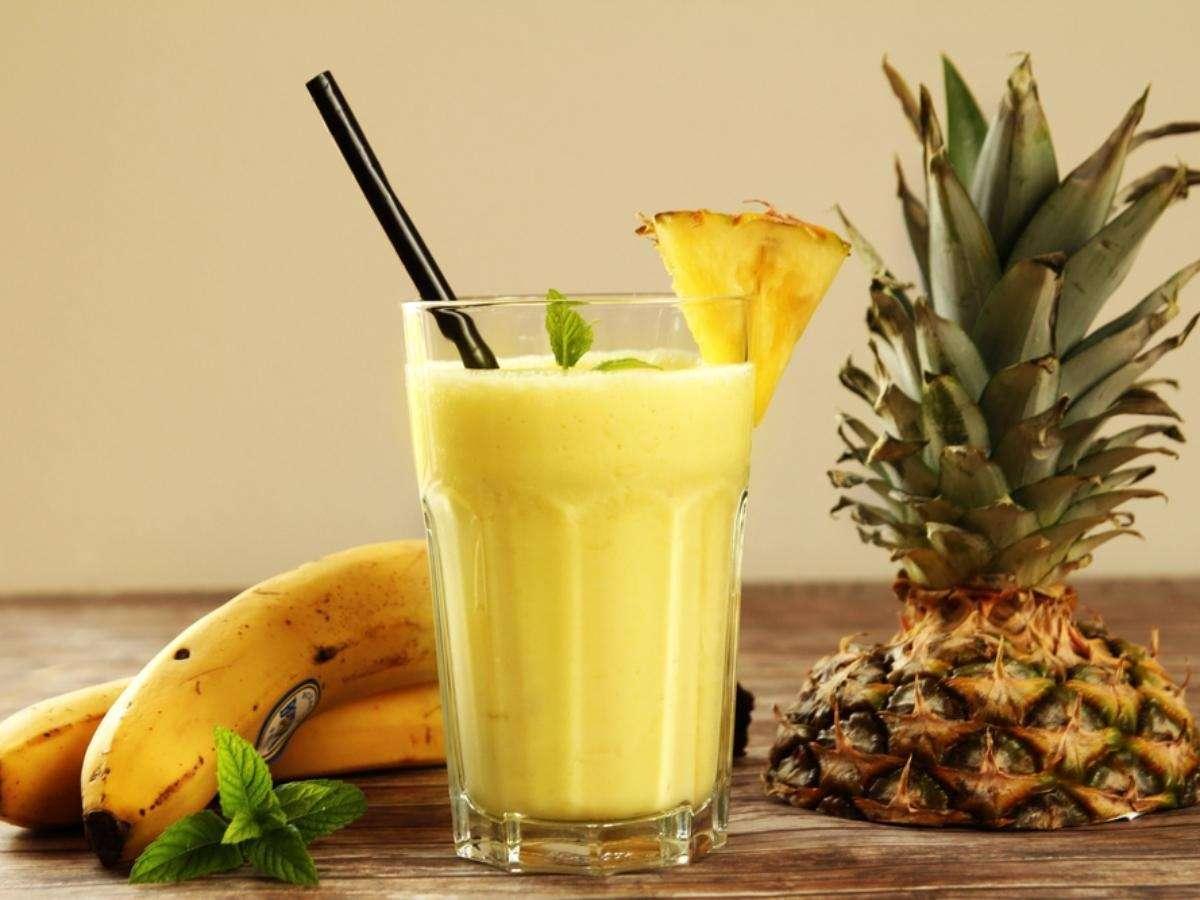 Receita de suco de abacaxi com morango e banana