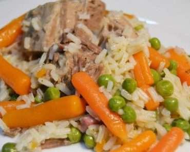Receita de Arroz com legumes e carne Fácil