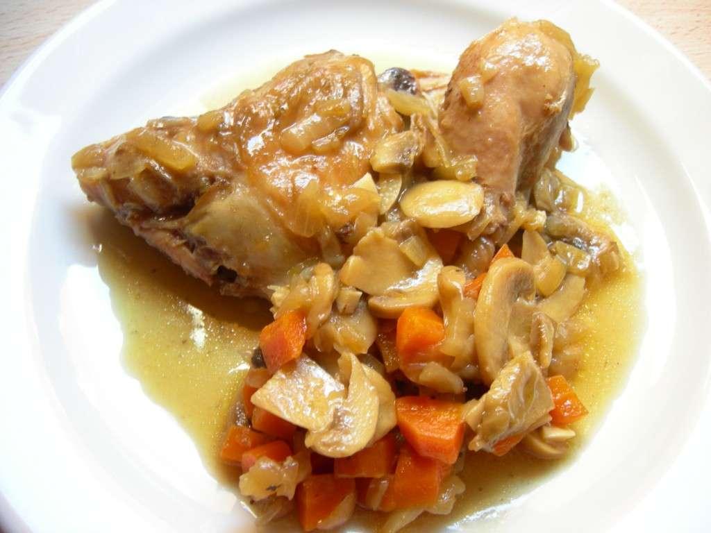 Receita de Frango no forno com batata e cebola