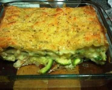 Receita de Lasanha de abobrinha com queijo gratinada