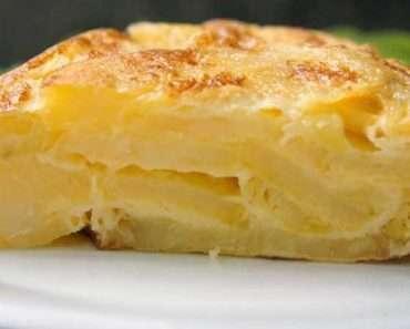 Receita de Omelete de forno com batata e mussarela