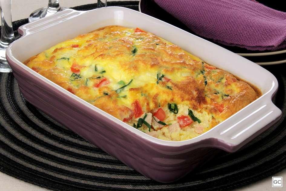 Receita de Omelete de forno com couve