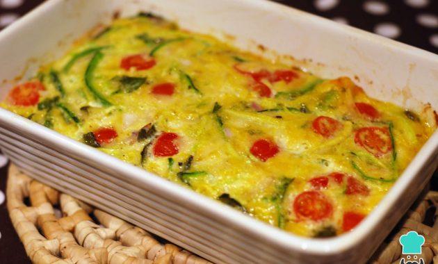 Receita de Omelete de forno com legumes