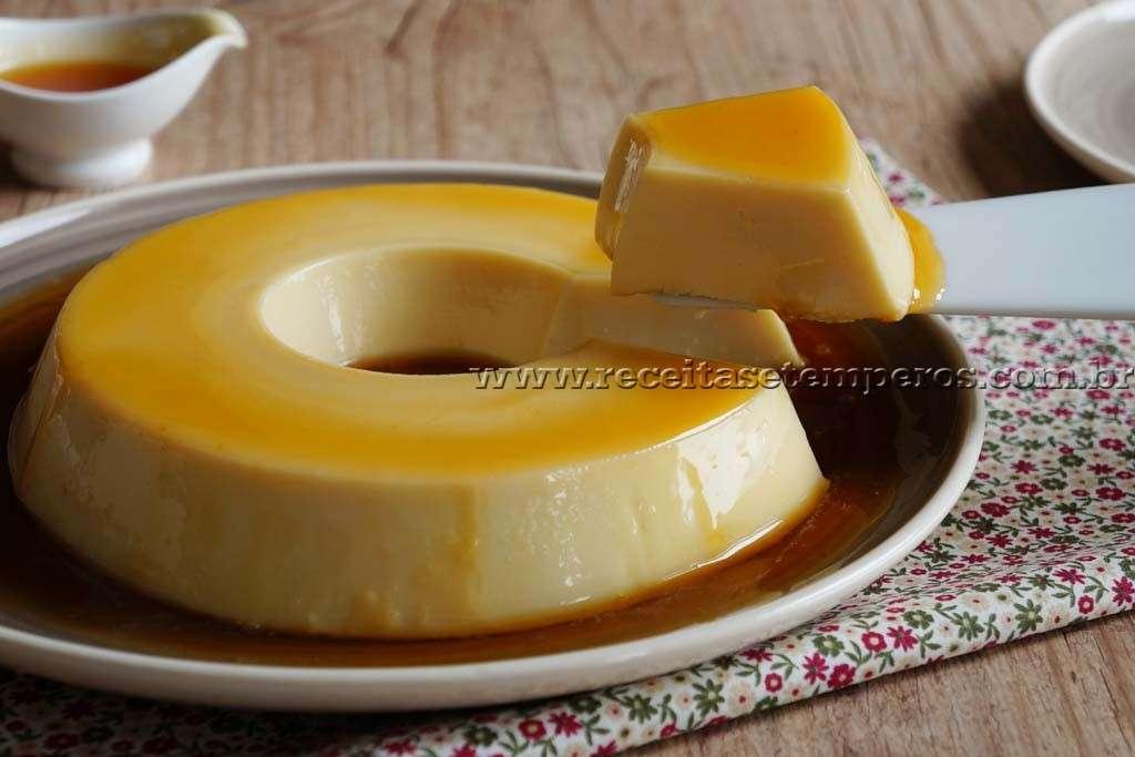Receita de Pudim de leite Sem forno
