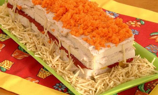 Receita de Sanduíche colorido Fácil
