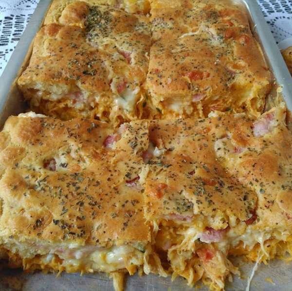 Receita de Torta de Frango Rápida com Requeijão