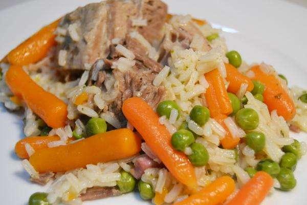 Receita de Arroz com legumes e carne