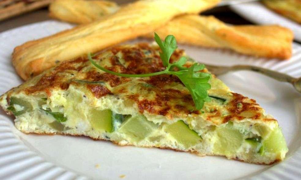 Receita de Omelete de abobrinha no Forno