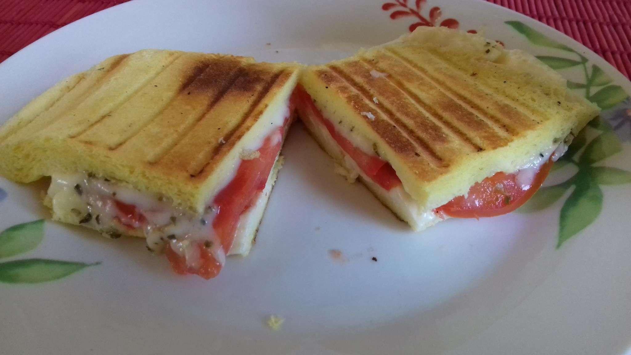 Receita de Panini lowcarb Pequeno Almoço
