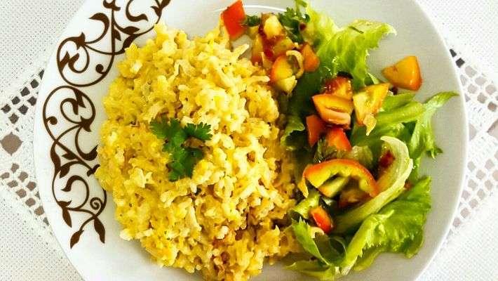 Receita de Risoto de arroz integral e frango desfiado