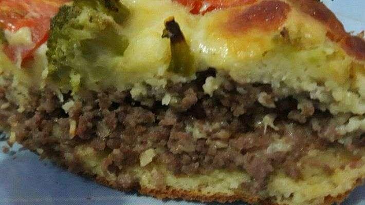 Receita de Torta de brócolis com carne