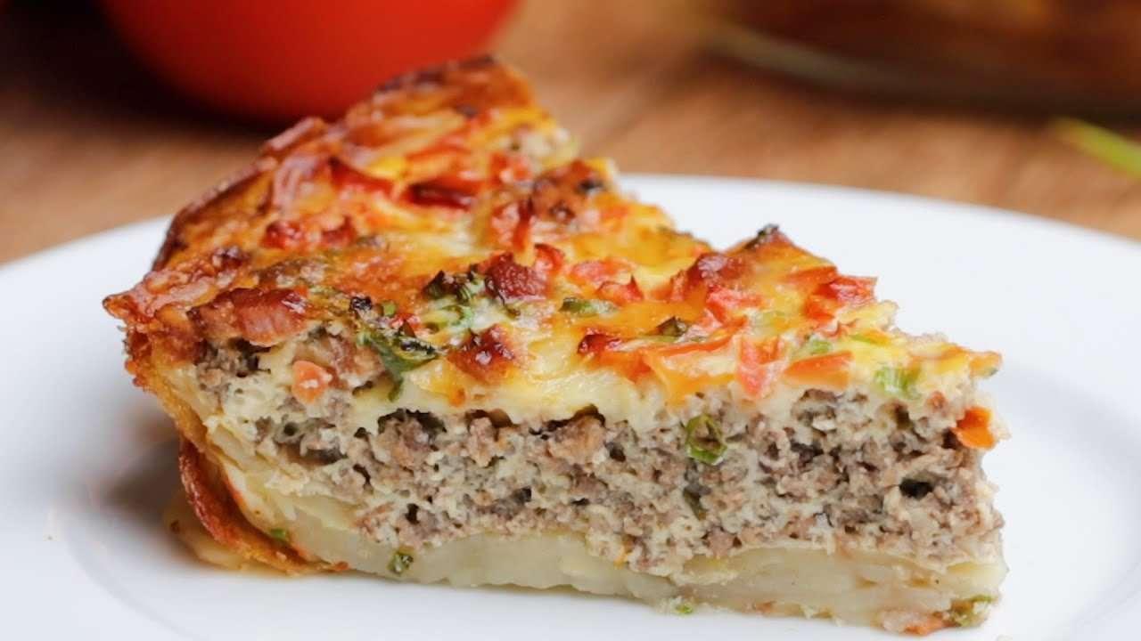 Receita de Torta de carne moída com crosta de batata