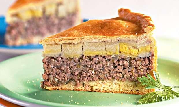 Receita de Torta de carne moída e banana