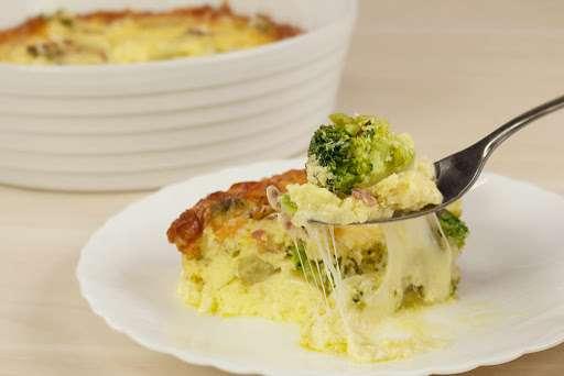 Receita de Tortinha de brócolis low carb para Almoço