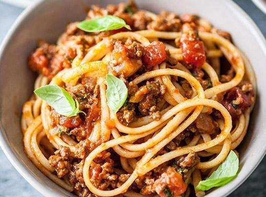 Receita de Esparguete à Bolonhesa Americana