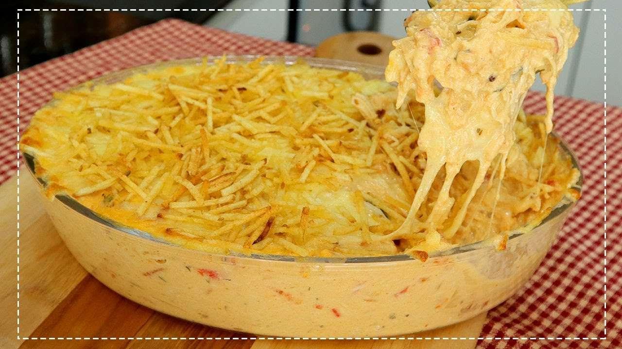Receita de Fricassê de frango com creme de milho e requeijão