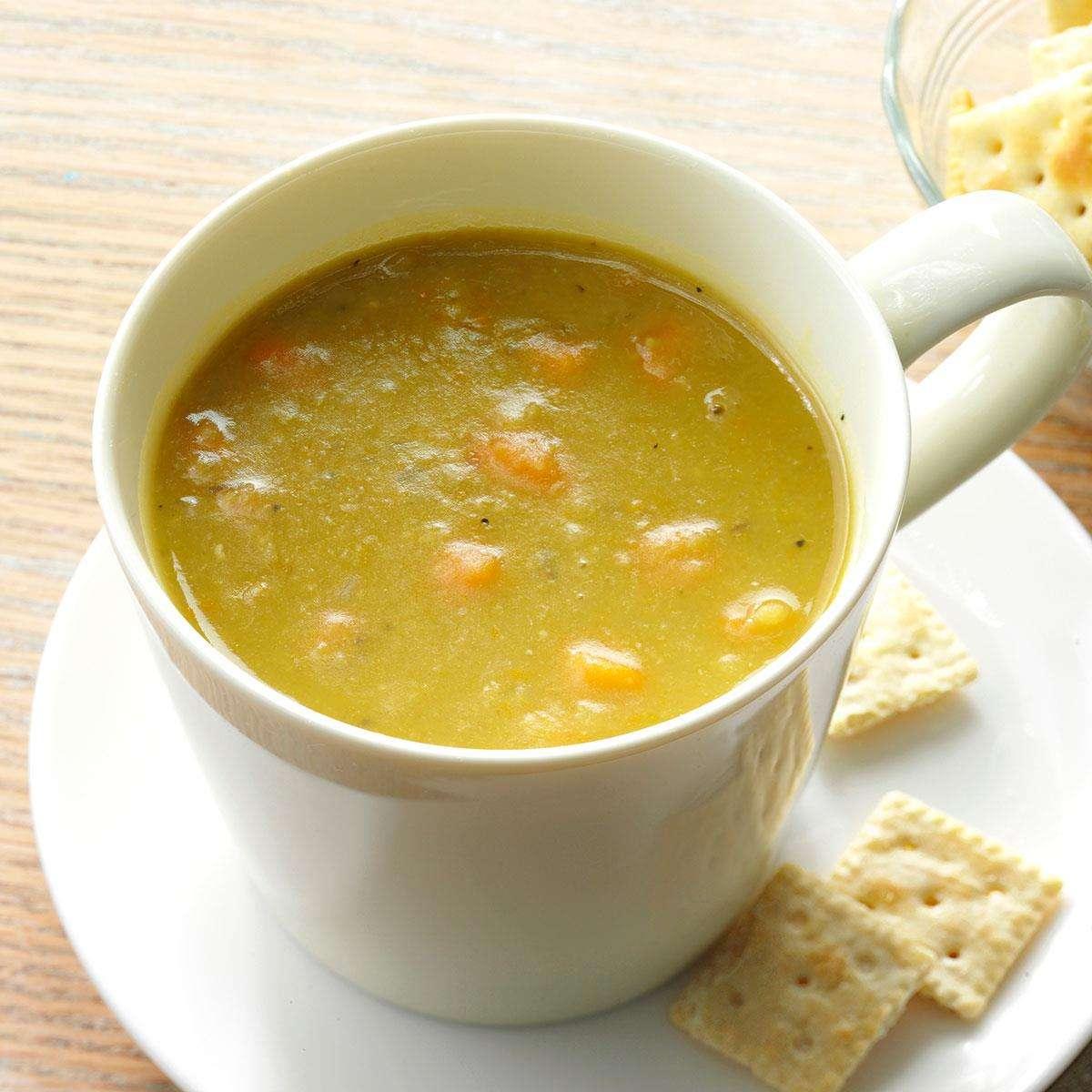 Receita de Sopa de Ervilha com Legumes