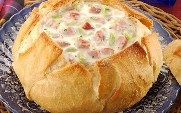 Receita de Creme de Queijo com Pão Italiano