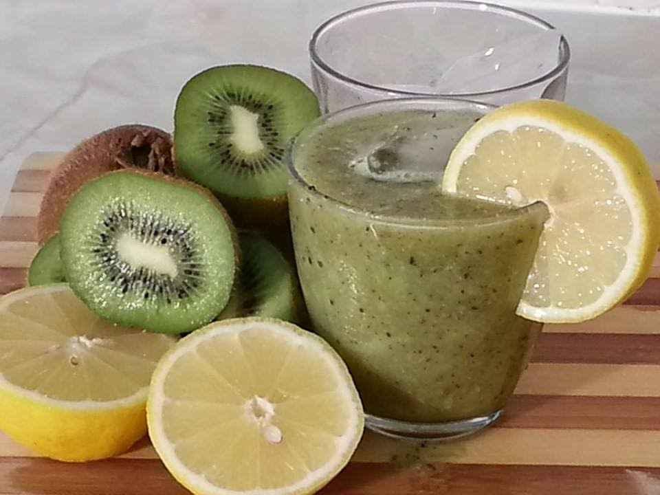 Receita de Suco de Limão com Kiwi