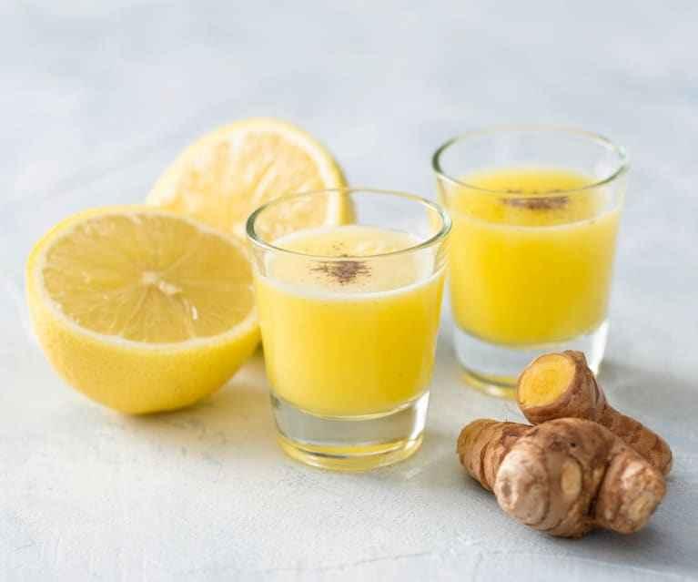 Receita de suco de limão com gengibre