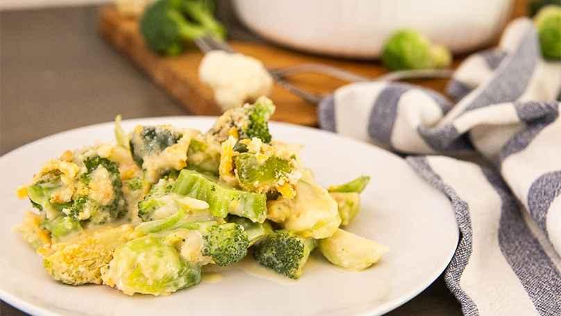 Receita de Brócolis gratinada com Batata