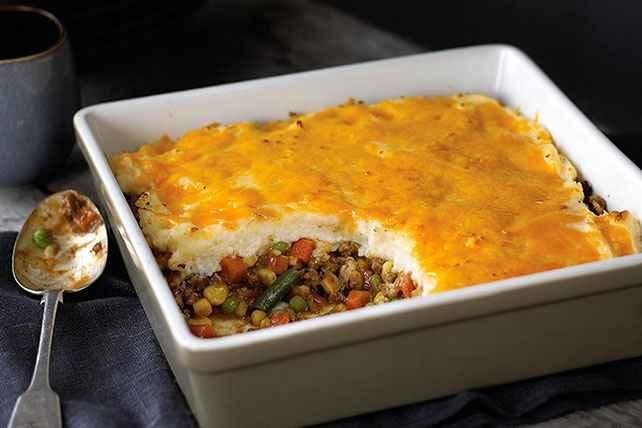 Receita de Escondidinho de Carne moída e legumes