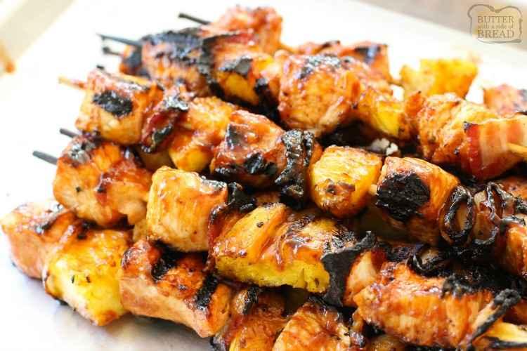 Receita de Espetinho de Carne Bovina com Abacaxi