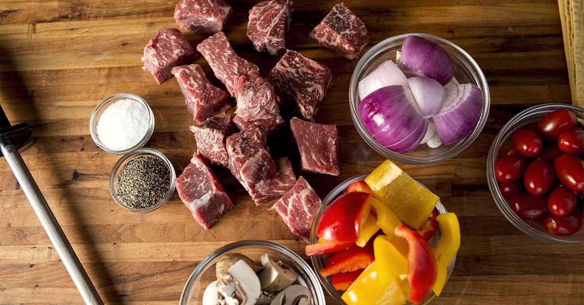 Receita de Espetinho de Carne com Cogumelos