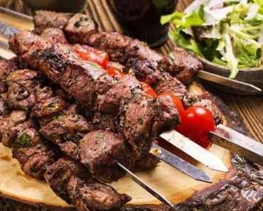 Receita de Espetinho de Carne simples