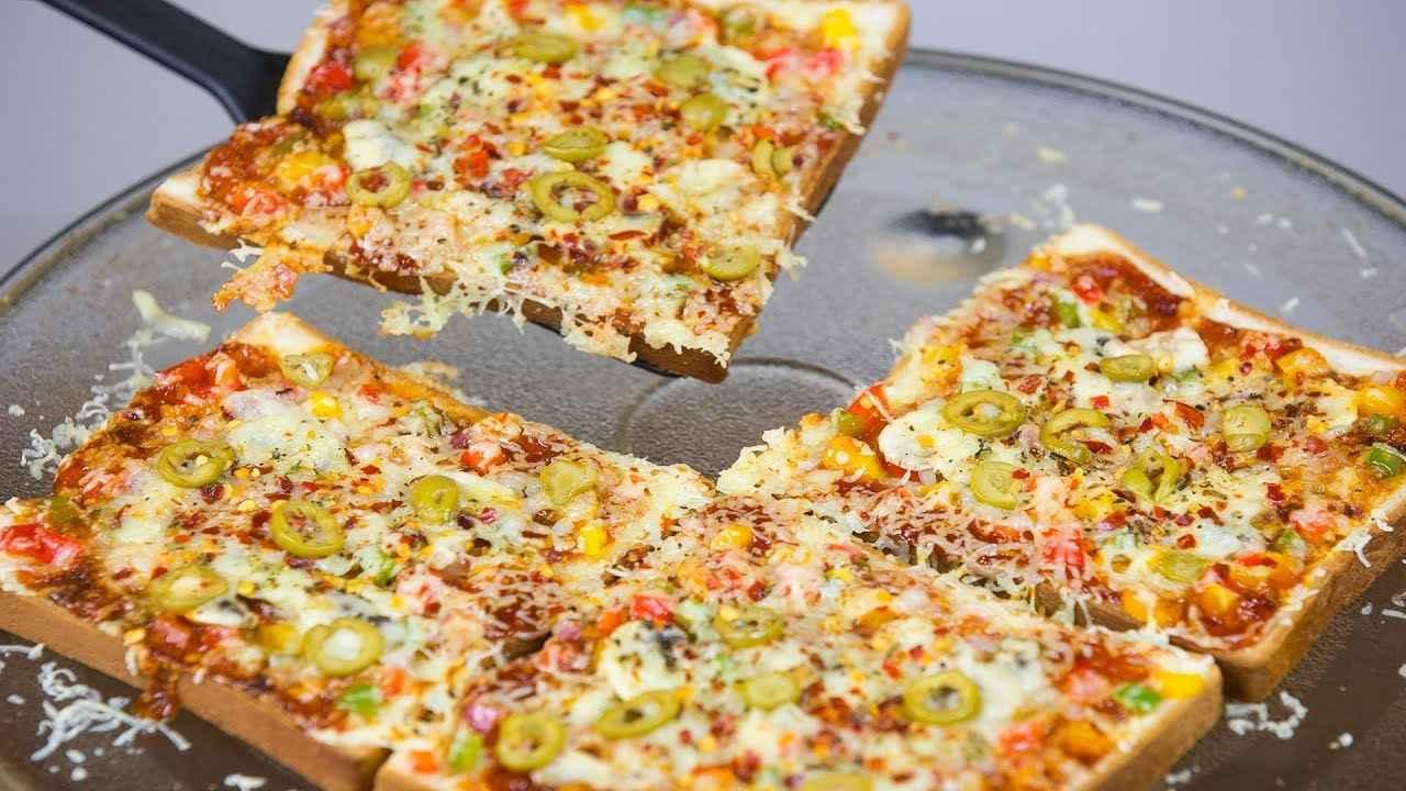 Receita de Pizza de Pão de Forma bem Fácil