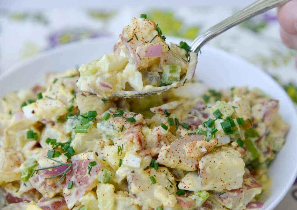 Receita de Salada de Batata com maionese aerada