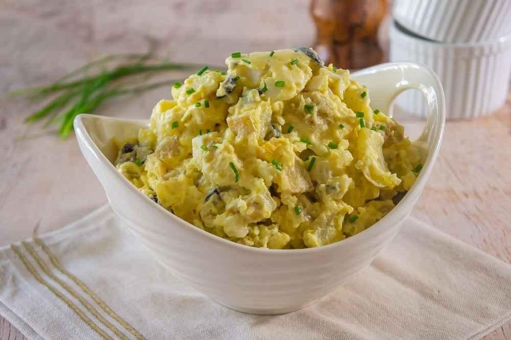 Receita de Salada de batata com mostarda Fácil