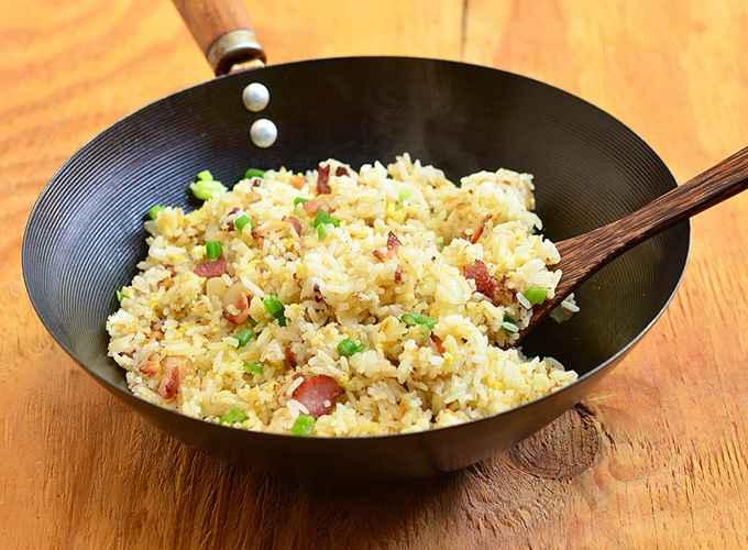 Receita de arroz com bacon Tudo Gostoso