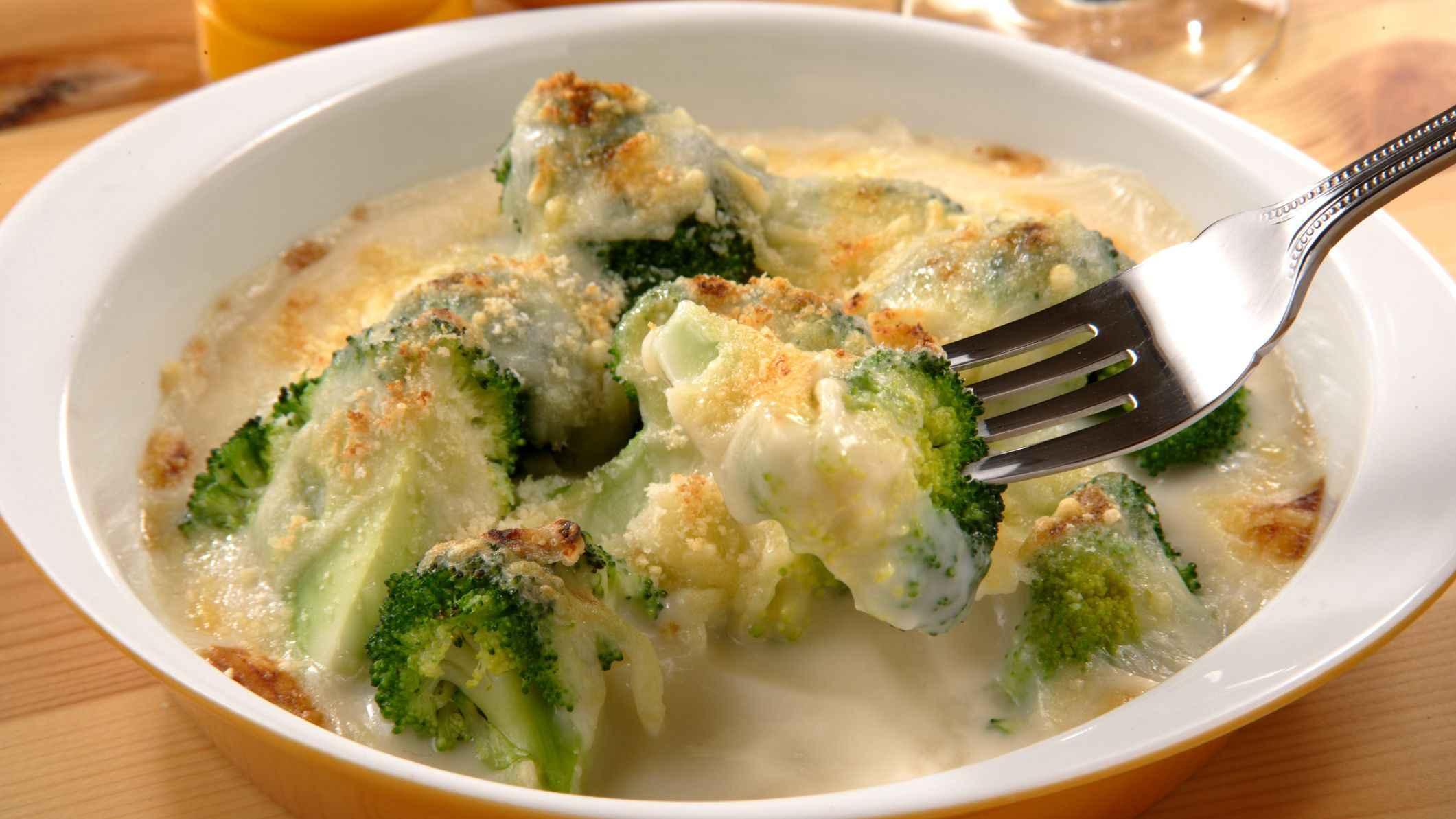 Receita de brócolis Gratinada com Batata Cremoso