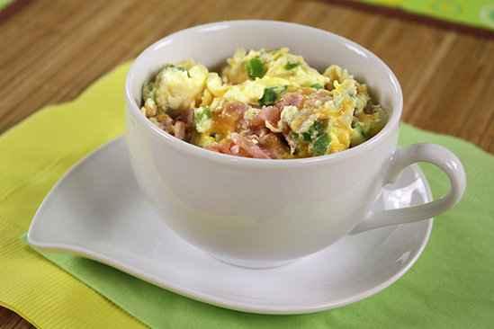 Receita de omelete de microondas na Caneca