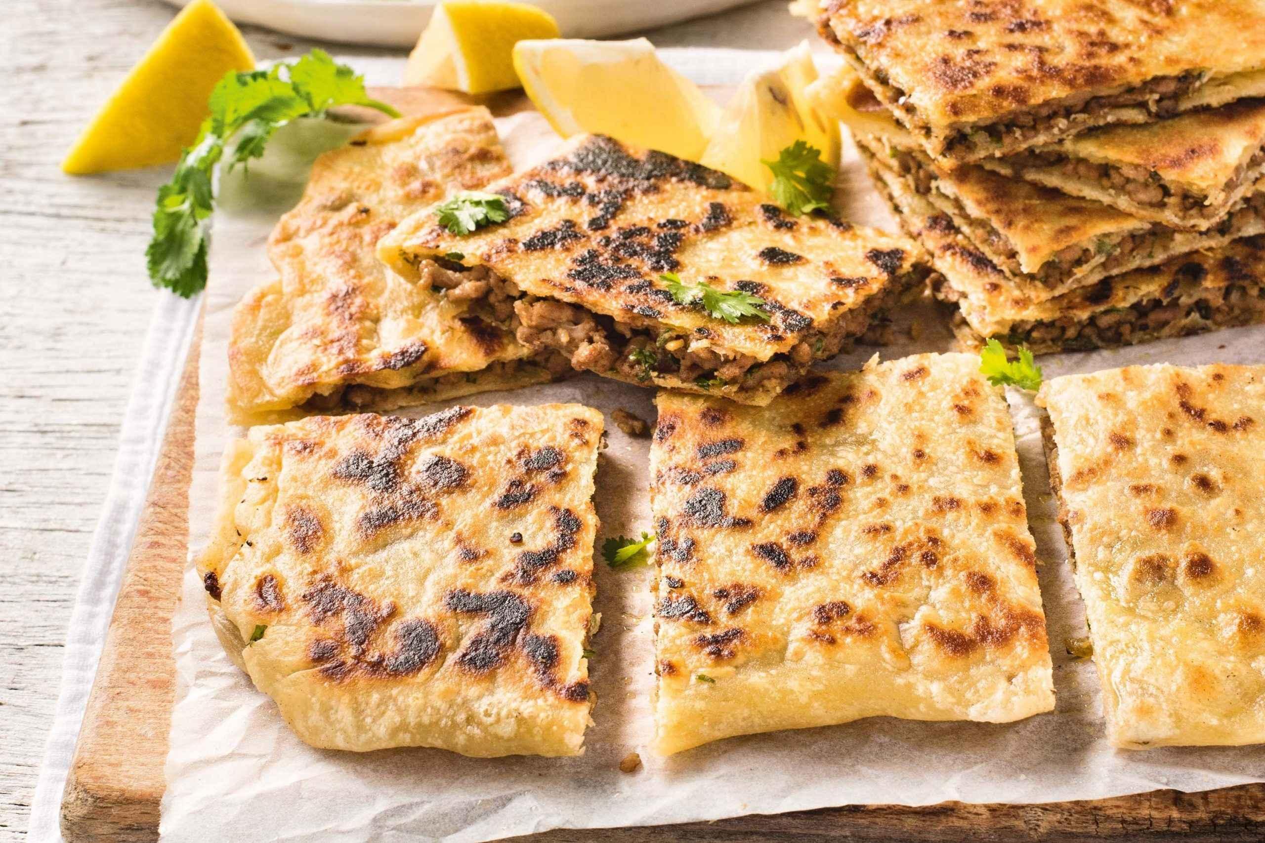 Receita de pão low carb de frigideira Crocante