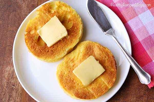Receita de pão low carb de frigideira na Manteiga