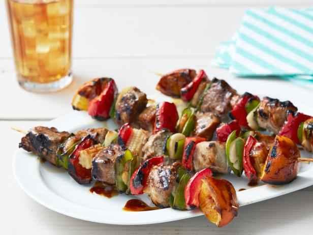 Receita espetinho de carne com legumes Fácil