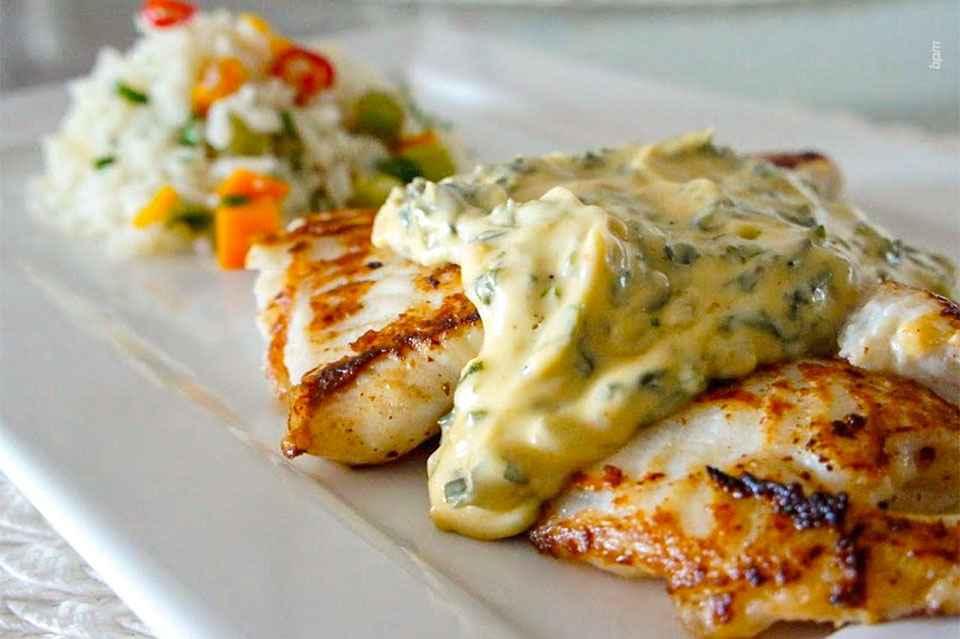Jantar rápido e saudável de Linguado ao Forno Light
