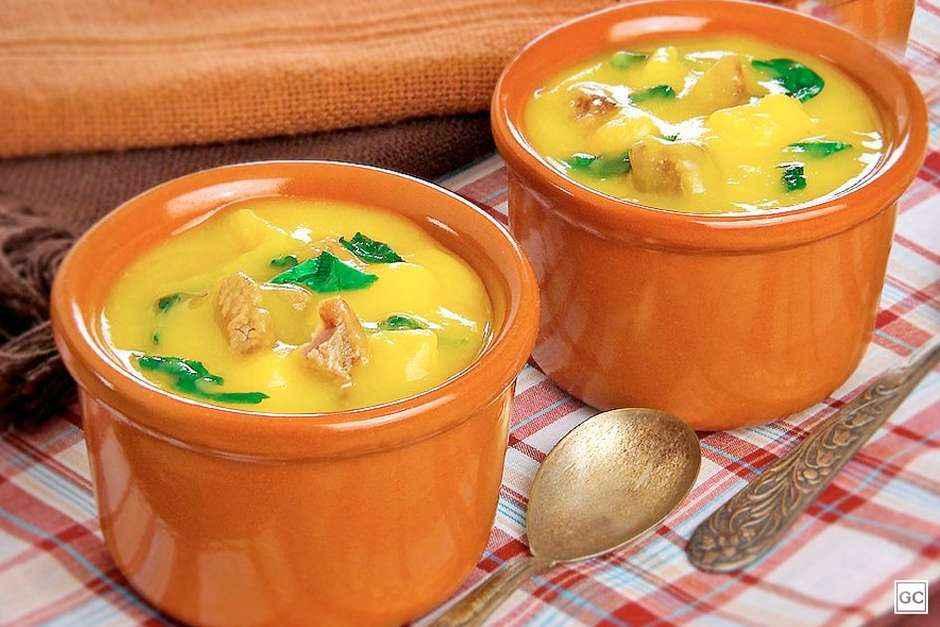 Receita de Sopa de Mandioquinha Ana Maria Braga