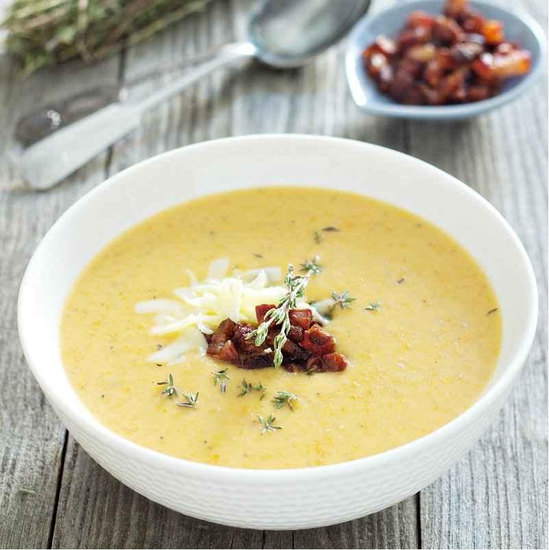 Receita de Sopa de Mandioquinha Cremosa