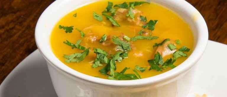 Receita de Sopa de Mandioquinha com Carne