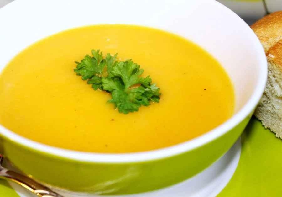 Receita de Sopa de Mandioquinha com Cenoura