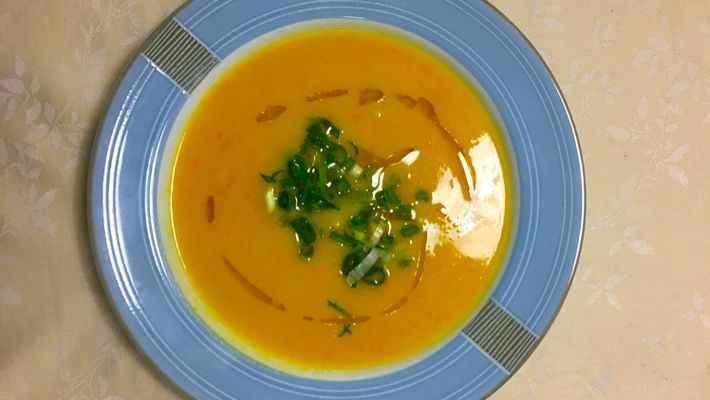 Receita de Sopa de Mandioquinha e Cenoura