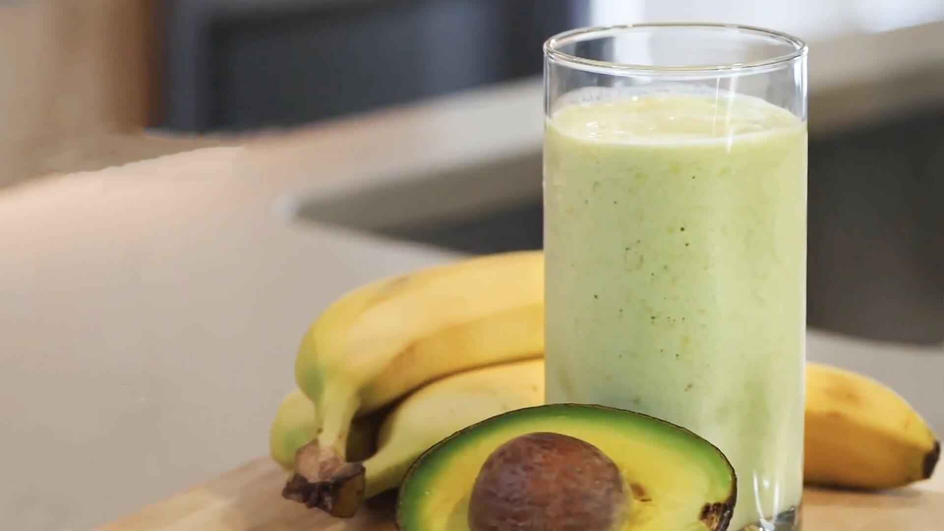 Receita de Vitamina de Banana com abacate