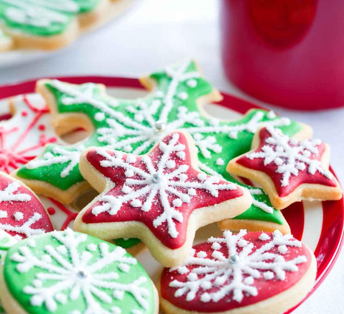 Receita de Bolacha de Natal Coloridas