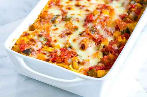 Receita de Lasanha de Legumes Vegetariana