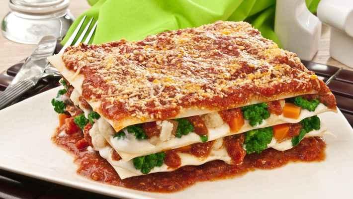Receita de Lasanha de Legumes ao Salsaretti de Ricota